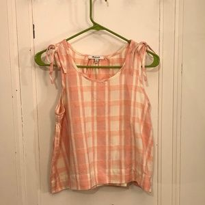 Madewell Never Worn Pink Gingham Tank Size XS